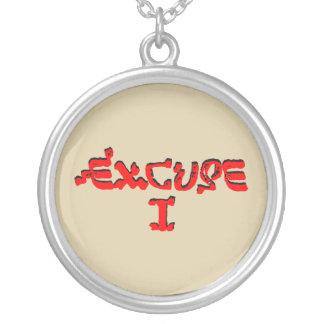 Excuse I Round Pendant Necklace