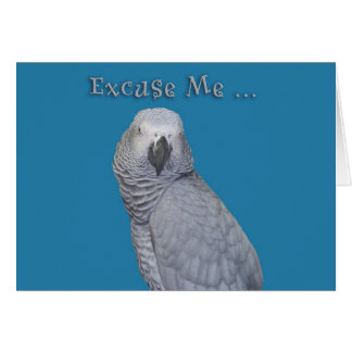 Excuse Me Birthday Card