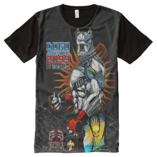 ExE Dogo Argentino Cyborg MMA All-Over Print T-Shirt