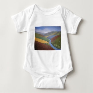 Exe Valley View by Janet Davies,Devon Baby Bodysuit