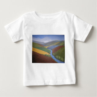 Exe Valley View by Janet Davies,Devon Baby T-Shirt