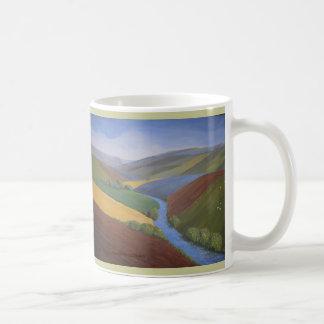 Exe Valley View by Janet Davies,Devon Basic White Mug