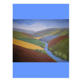 Exe Valley View by Janet Davies,Devon Postcard