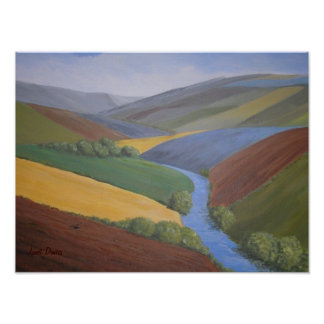 Exe Valley View by Janet Davies Poster