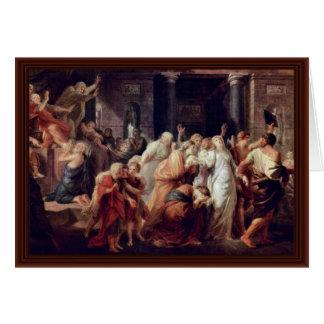 Execution Of A Vestal By Füger Heinrich Friedrich Greeting Card