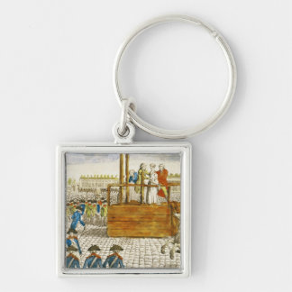 Execution of Marie-Antoinette Silver-Colored Square Key Ring