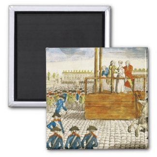 Execution of Marie-Antoinette Square Magnet