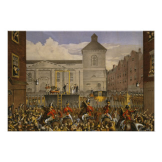 Execution of Robert Emmet in Dublin Poster