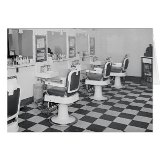 Executive Barber Shop, 1935 Greeting Cards