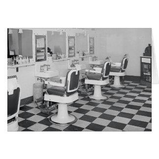 Executive Barber Shop, 1935 Greeting Card