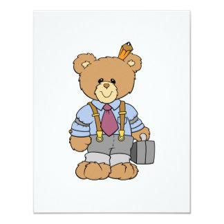 Executive bear personalized invite