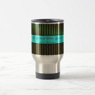 Executive Blue Gold Artwork Travel Mug