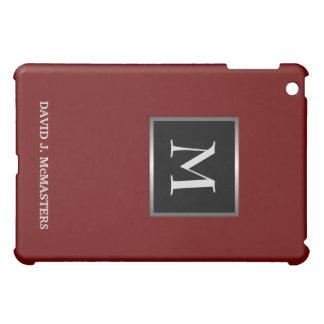 Executive Burgundy - Silver Monogram iPad Case