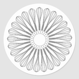 Executive Chef Culinary,  Whisk Round Sticker