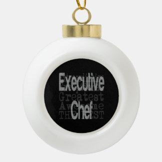Executive Chef Extraordinaire Ceramic Ball Decoration