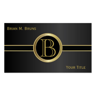 Executive Classic Black Monogram Pack Of Standard Business Cards