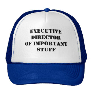 """Executive Director of Important Stuff"" Hat"