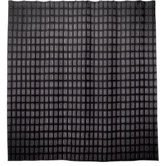 Executive-Gray-Black-Fog--Mod-Bath-Decor Shower Curtain