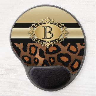 Executive Monogram Design | Jaguar Animal Print Gel Mouse Mat