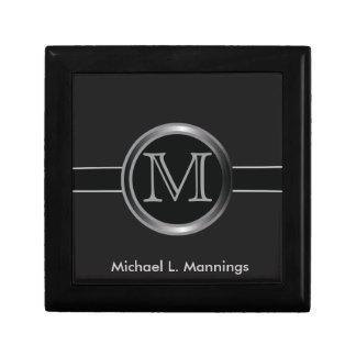 Executive Monogram Design Small Square Gift Box