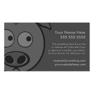 Executive Pig Business Cards