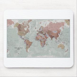 Executive World Map Mouse Mat