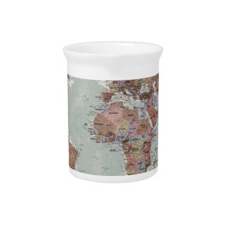 Executive World Map Pitcher