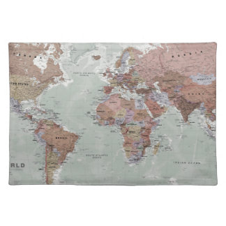 Executive World Map Placemat