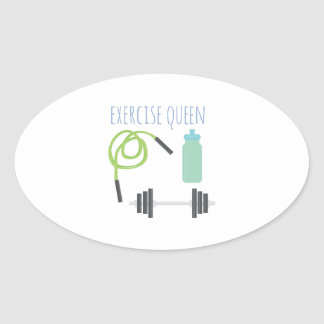 Exercice Queen Oval Sticker