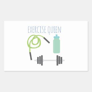 Exercice Queen Rectangular Sticker