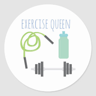 Exercice Queen Round Sticker