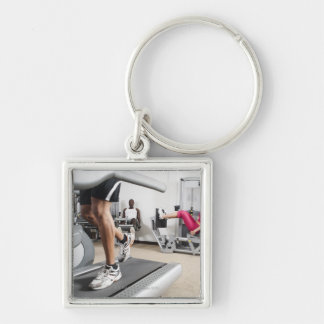 Exercise 2 Silver-Colored square key ring