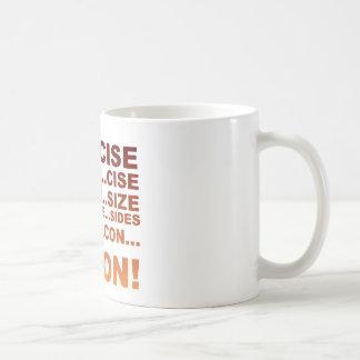 Exercise bacon basic white mug