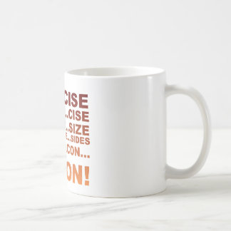 Exercise bacon coffee mug