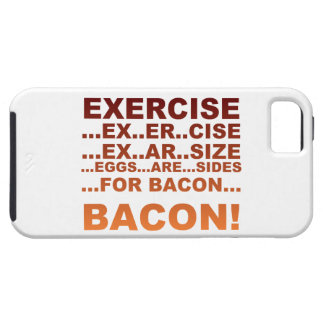 Exercise bacon iPhone 5 cases