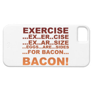 Exercise bacon iPhone 5 covers