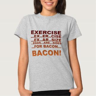 Exercise bacon tshirts