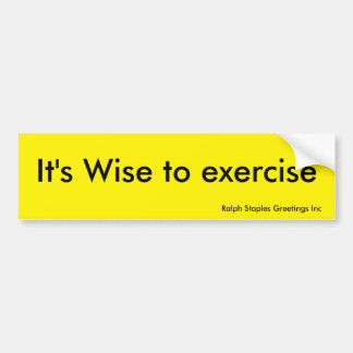 Exercise Bumper Sticker