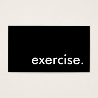 exercise. business card