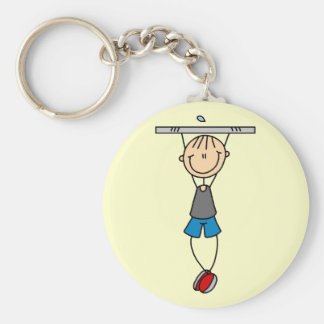 Exercise Chin Ups Tshirts and Gifts Basic Round Button Key Ring