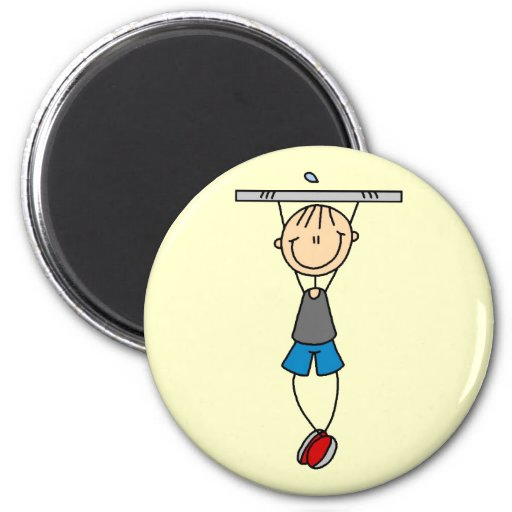 Exercise Chin Ups Tshirts and Gifts Fridge Magnet