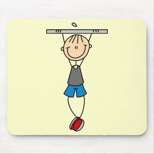 Exercise Chin Ups Tshirts and Gifts Mouse Pads