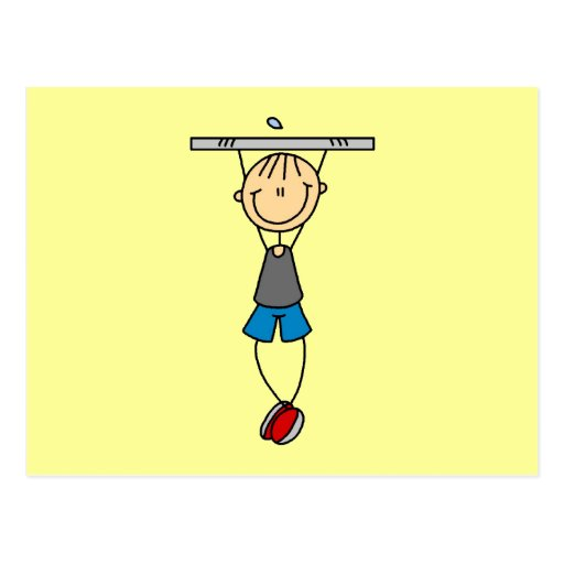Exercise Chin Ups Tshirts and Gifts Postcards