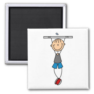 Exercise Chin Ups Tshirts and Gifts Square Magnet