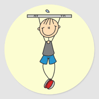 Exercise Chin Ups Tshirts and Gifts Sticker
