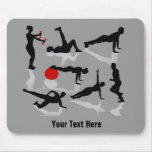 Exercise Figures (personalised) Mouse Mats