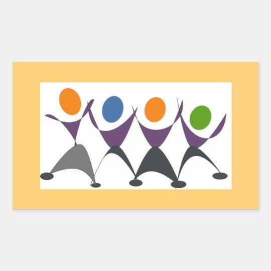 Exercise for Fun Rectangular Sticker