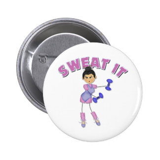 Exercise Gift For Women 6 Cm Round Badge