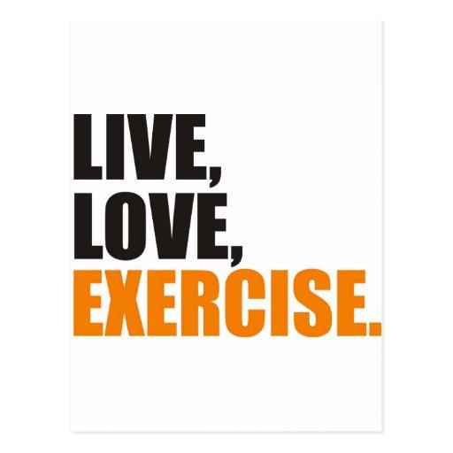exercise postcard