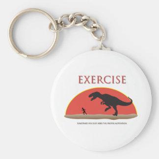 Exercise - Proper Motivation Basic Round Button Key Ring